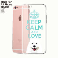 Samoyed dog silicone case iPhone 11 pro max XS 8 7 + Galaxy S10  S9 plus Note 10