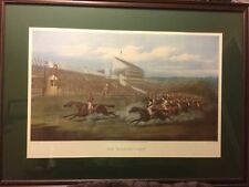 """Horse prints""""The Winning Post"""" Equestrian Lithograph38x28""""by H. Alken"""
