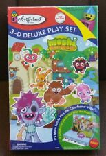 Moshi Monsters Colorforms 3-D 3D Deluxe Play Set #70386 New in Box Anime Japan