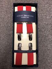 Albert Thurston ® 25mm Clip Hosenträger-Rot
