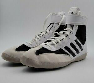 Adidas Combat Speed 5 Black White Wrestling Shoes Mens Sz 11 AC7501 Lightweight