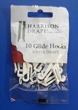 Harrison Drape Curtain Track Gliders Hooks for White Drape rails, Pack of 10