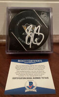 Sidney Crosby Autographed Official NHL Game Puck Pittsburgh Penguins Beckett COA