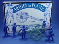 ARMIES IN PLASTIC 5478 REVOLUTIONARY WAR AMERICAN ARTILLERY 6 Figures Cannon