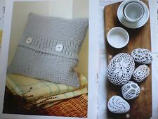 Knitted Cushion and Pebbles Crochet Patterns
