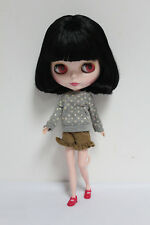 "12"" Neo Blythe doll nude Takara doll Girl's Toy Black cute short hair Sd82"