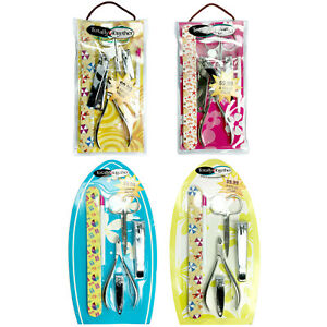 6 pc Trim Personal Grooming Kit Scissor Nail&Toe Clippers+File+Trim Tool+Cuticle