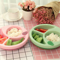 Suction Safety Bowl Non-slip Feeding Plastic Tableware for Baby Infant Toddler W
