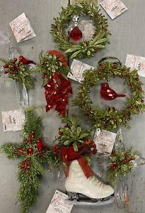 GANZ Kissing Krystals Ornaments, Choose From 7 Mistletoe Ornaments,  NEW