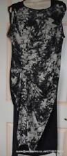 All Saints Riviera Shade Silk Dress Washed Black Size 8 Fit 10