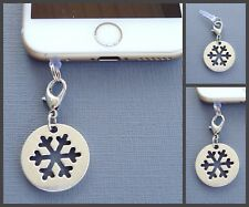 Snowflake Christmas cell phone Charm Anti Dust proof Plug ear jack cover C164
