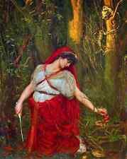 Medea the Sorceress - Valentine Princep Art Witch Snake Toadstool 8x10 Print 705