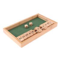 Shut the Box Brettspiel Spielwaren Klappbrett Holz Würfelspiel Trinkspiel