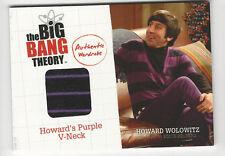 Howard's Shirt 2012 The Big Bang Theory Seasons 1 & 2 Costume Wardrobe Card M5