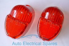 TRIUMPH Spitfire rear / tail light lens RED x 2 ( 1 PAIR ) replaces Lucas L672