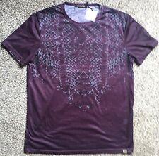 Primo Emperio Men's Short Sleeve Shirt T-Shirt XL Large Snake Skin Italian Italy