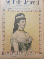 1896 PP SISSI ELISABETH IMPERATRICE AUTRICHE PORTRAIT