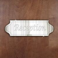 RECEPTION Door Sign Plaque Signage Personalised Name/Room Acrylic Mirror Gift