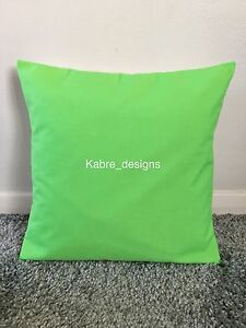 """NEW 20"""" PLAIN LIME GREEN CUSHION COVER PILLOW BED SOFA MORE COLOURS SIZES AVAIL"""