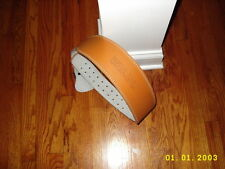 """VALEO TAN Leather Weight Lifting Belt, LARGE Back Support- 4""""  WIDE NEW"""