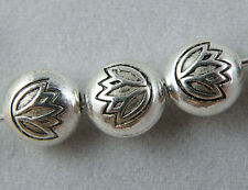 20pcs Tibetan Silver Round Flower Flat Spacer Beads 8x5.5mm zn60271