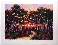 "Aldo Luongo ""Forest at Dusk"" Art Hand Signed Serigraph Landcape  Make an Offer!"