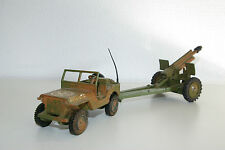 DINKY TOYS 615 US ARMY JEEP WITH HOWITZER CANON 155MM VN MINT RARE SELTEN RARO!