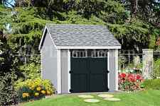 Garden Storage Shed Plans Building Blueprints 10' x 10' Gable Roof Style #D1010G