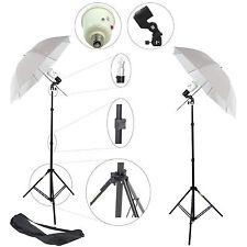 2x Kit Éclairage Studio Barebulb DynaSun 2xSDW45 Flash Douille Parapluie Trépied