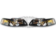 NEW OEM 2001-2004 Ford Mustang Headlight PAIR - Black SVT Cobra GT Terminator