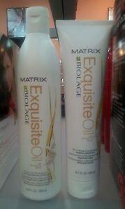 Matrix Biolage exquiste Oil Shampoo 16.9 oz and Conditioner 10.1 oz NEW