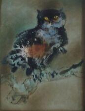 """Kaiko Moti """" Owl """" Original Etching S/N Artwork"""
