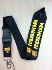 FC Barcelona  Black Lanyard Key Chain Holder Soccer Football FREE SHIPPING / USA