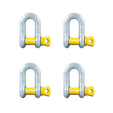 "D Shackle x 4 Rated 750kg 8mm 5/16"" Galvanised ARK Trailer Dee Shackle x 4"