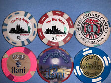 Casino Chips - Mixed Lot - $15.50 Face (includes a serialized Grand Opening)