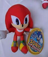 "8"" Official Sonic Hedgehog Knuckles Plush Figure Stuffed SEGA Boy Girl Kids Toy"