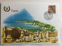 Numisbrief UN Flag Series Zypern Cyprus 5 Cent 1988 Stempel 1990 NBA7/62
