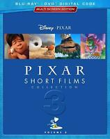 PIXAR SHORT FILMS COLLECTION Vol. 3 Blu Ray DVD and Digital with Slip Cover New