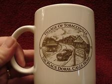 """Village of Tobaccoville (NC)The Place Doral Calls Home Coffee Cup Tobacco 4""""MINT"""