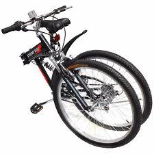 "26"" Folding Mountain Bicycle 7-Speed Shimano FOLDABLE Bike Black MTB Sport Fold"