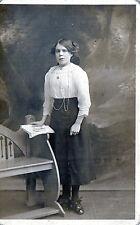 Antique Original Postcard - Young Lady, (RP)