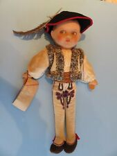 "Polish Boy RARE 17"" Zakopane Poland Tatra Goralski NM Felt All Cloth Doll 30's?"