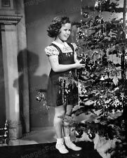 8x10 Print Shirley Temple Decorating Christmas Tree #ST20