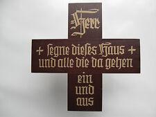 Haussegen Holz Segenskreuz Holzkreuz 10 cm Nr. HS/1 dkl. Sonderpreis Neuware