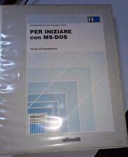 """OLIVETTI MS-DOS 3.30 MANUALE """"GUIDA ALL'INSTALLAZIONE""""  CON FLOPPY DISK 5,25"""""""