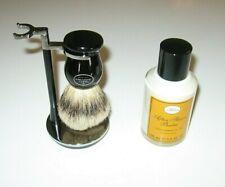 NEW ART OF SHAVING Chrome Stand, Brush, & After Shave Balm Lemon Oil