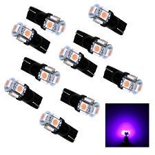 10Pcs T10 194 168 W5W 5 SMD 5050 Purple LED Car Wedge Light Fixed current USA