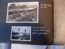 A  1930S ALBUM  20 PAGES  NAVAL MILITARY LIFE   LAUNCH ETC  30 X 22CM  GERMAN