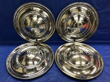 """Vintage Set Of 4 1951 Kaiser 15"""" Hubcaps Deluxe"""