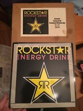 "Authentic Rockstar Energy Drink PLASTIC WINDOW Sign Monster  11""x 11"" RARE!!"